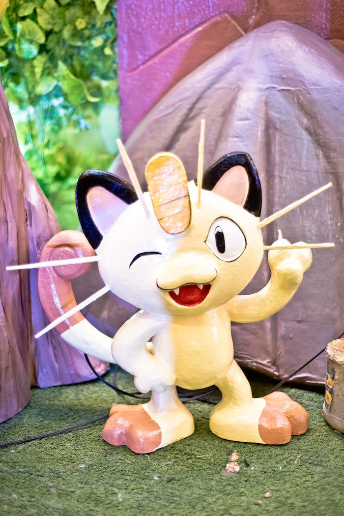 3D Meowth Standee from a Modern Safari Pokemon Party on Kara's Party Ideas | KarasPartyIdeas.com (6)