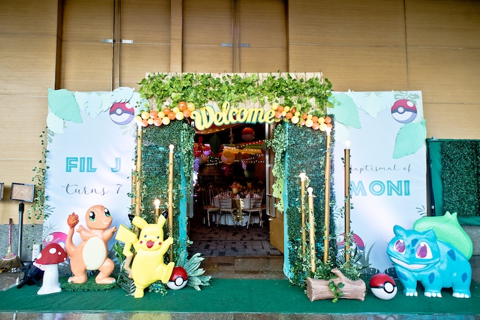 Pokemon Welcome Arch from a Modern Safari Pokemon Party on Kara's Party Ideas | KarasPartyIdeas.com (26)