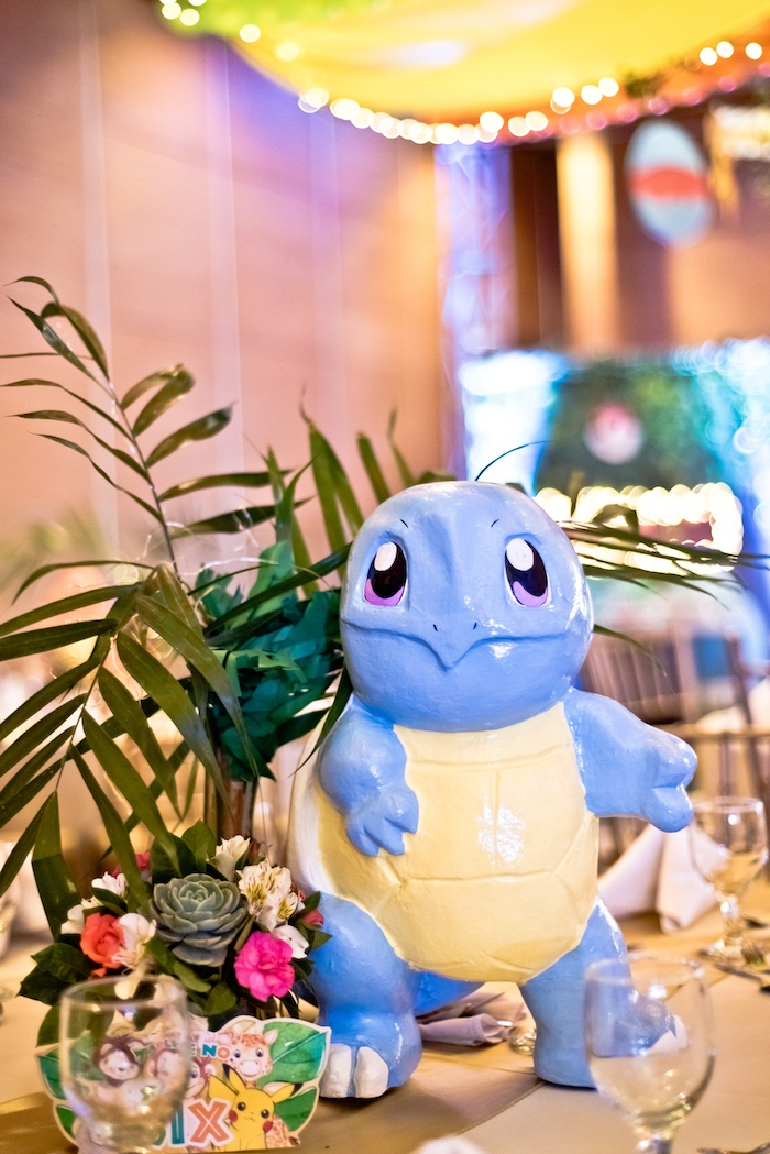 94373f4aea Squirtle Pokemon Centerpiece from a Modern Safari Pokemon Party on Kara s  Party Ideas