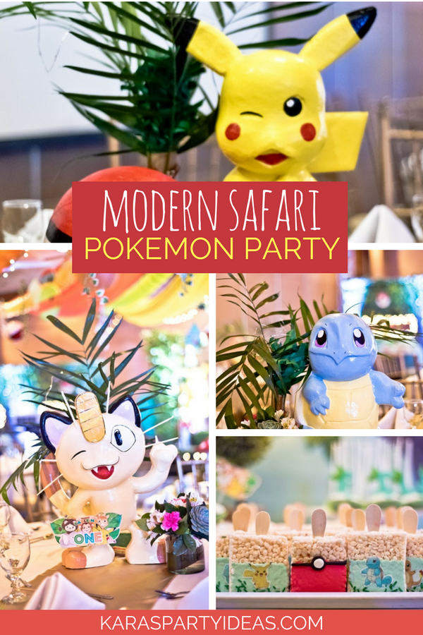 ed2194e538 Modern Safari Pokemon Party via KarasPartyIdeas - KarasPartyIdeas.com