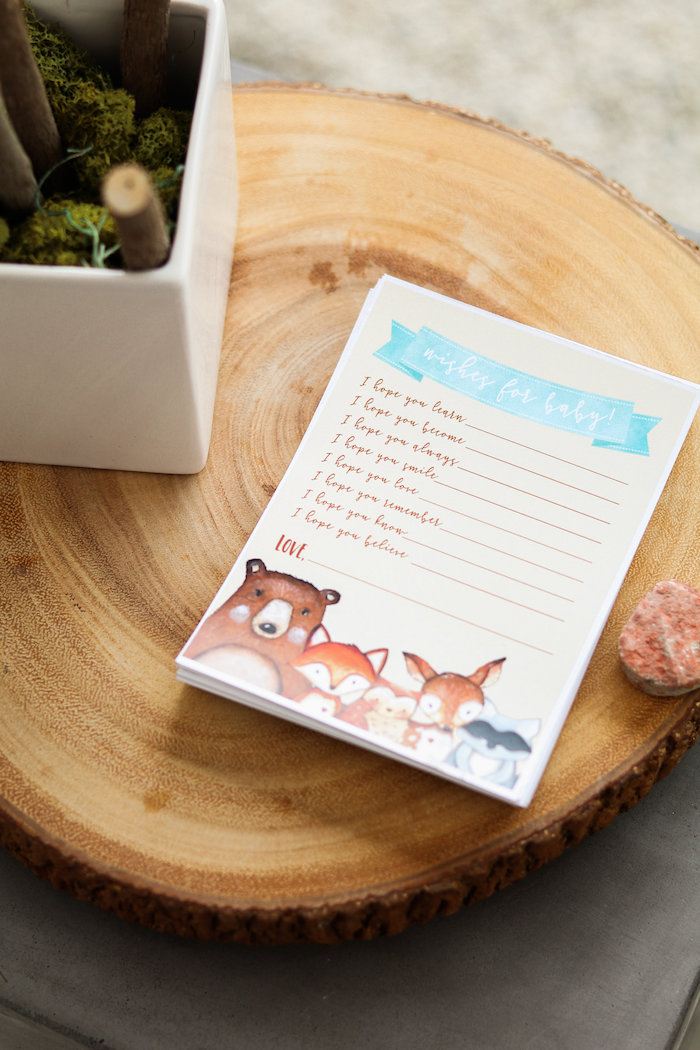 Woodland Wishes from a Modern Woodland Baby Shower on Kara's Party Ideas | KarasPartyIdeas.com (25)