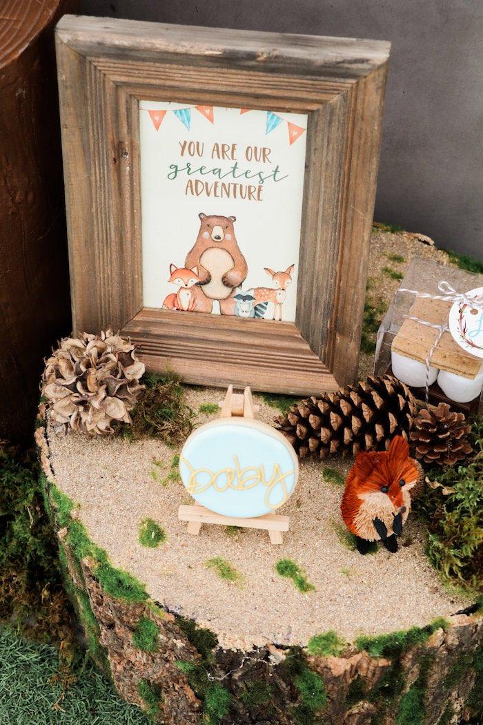 Woodland Animal Signage from a Modern Woodland Baby Shower on Kara's Party Ideas | KarasPartyIdeas.com (6)