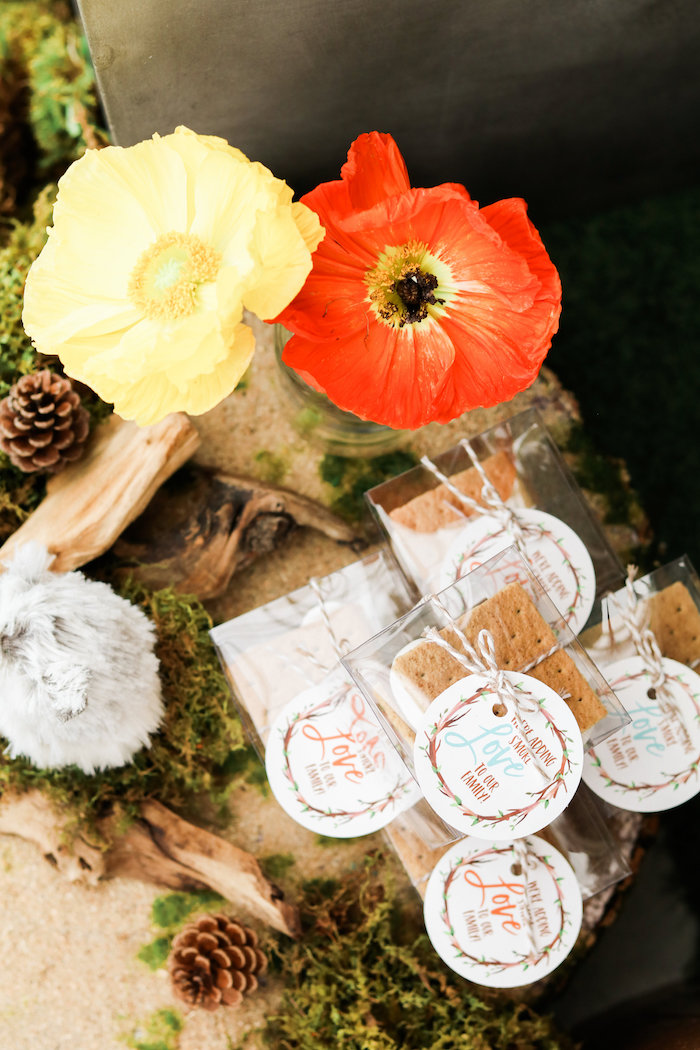 S'more Favors from a Modern Woodland Baby Shower on Kara's Party Ideas | KarasPartyIdeas.com (5)