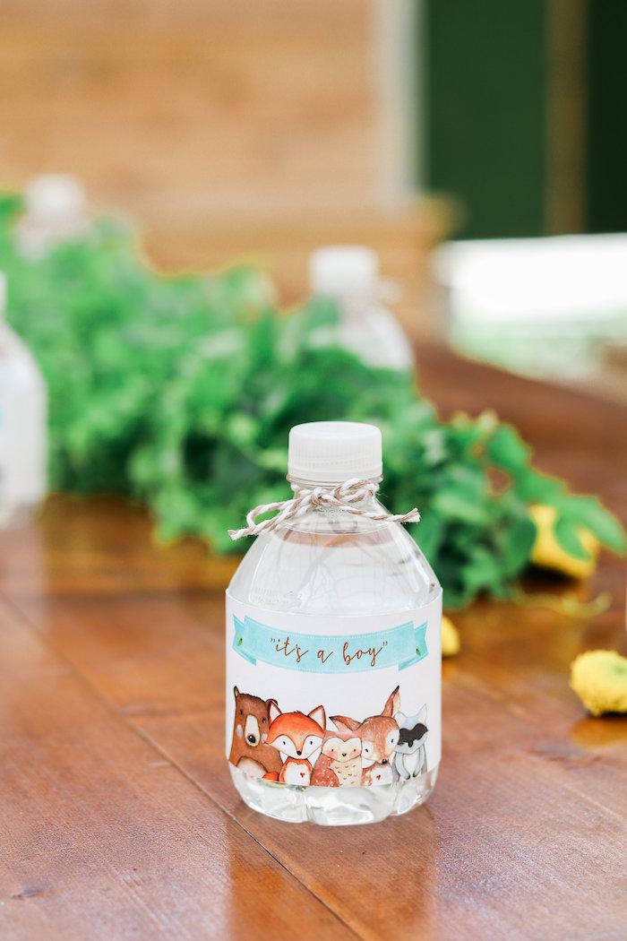 Woodland Animal Drink Label from a Modern Woodland Baby Shower on Kara's Party Ideas | KarasPartyIdeas.com (19)