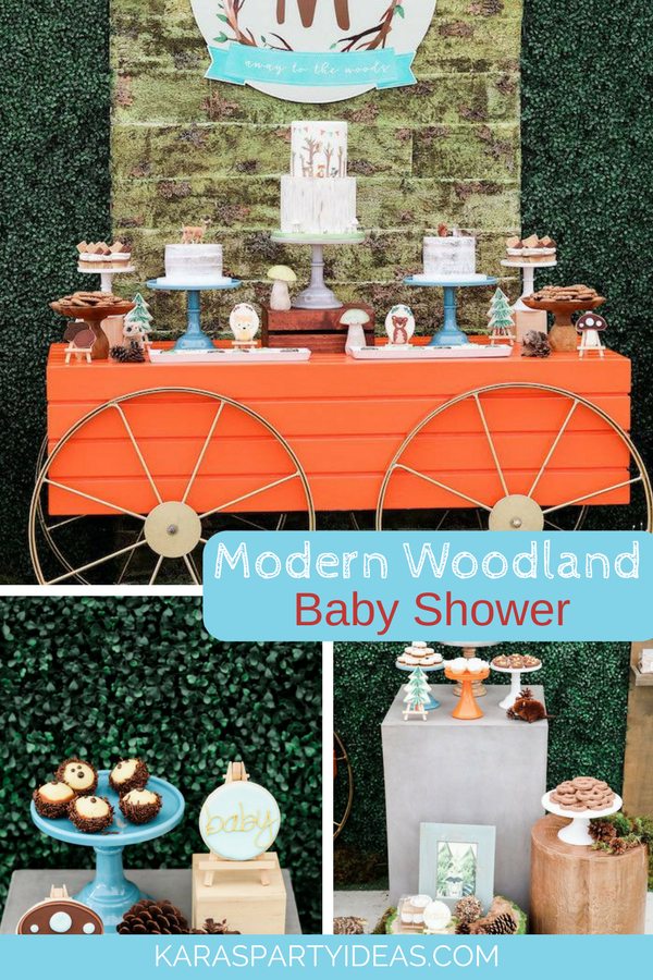 Modern Woodland Baby Shower via KarasPartyIdeas - KarasPartyIdeas.com