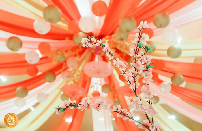 Cherry Blossoms from a Mulan Inspired Birthday Party on Kara's Party Ideas | KarasPartyIdeas.com (13)