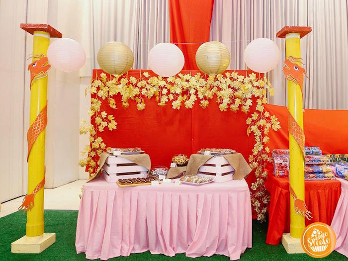 Chinese Dessert Table from a Mulan Inspired Birthday Party on Kara's Party Ideas | KarasPartyIdeas.com (12)