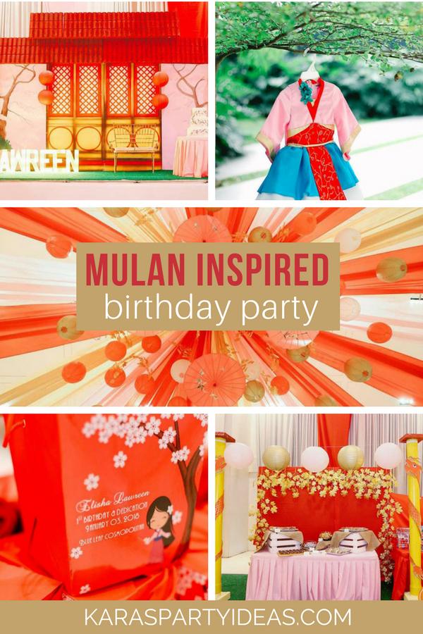 Mulan Inspired Birthday Party via KarasPartyIdeas - KarasPartyIdeas.com