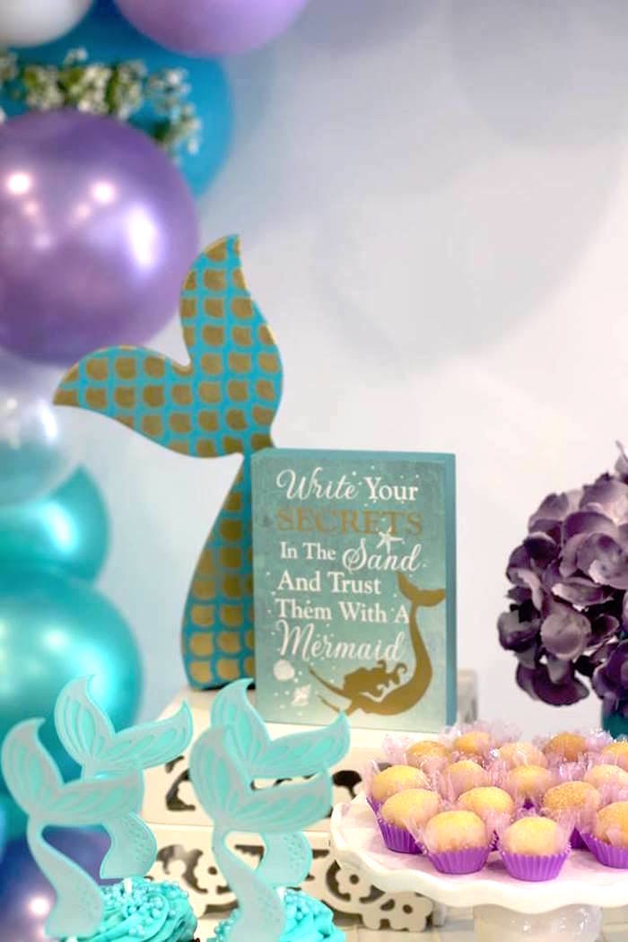 Mermaid Wishes Signage from a Mystical Mermaid Party on Kara's Party Ideas | KarasPartyIdeas.com (8)