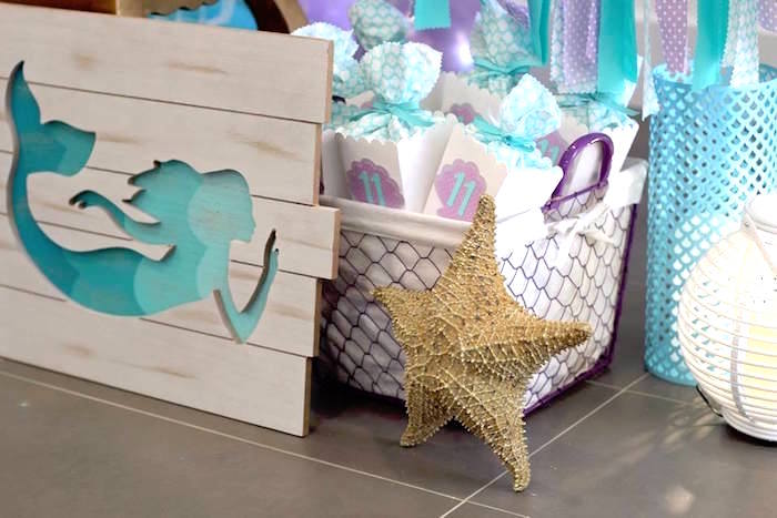 Mermaid Cut-out from a Mystical Mermaid Party on Kara's Party Ideas | KarasPartyIdeas.com (7)