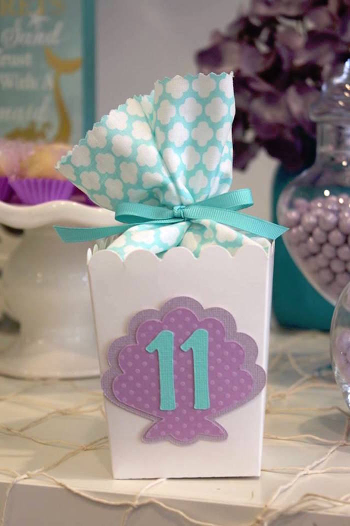 Seashell Favor Box from a Mystical Mermaid Party on Kara's Party Ideas | KarasPartyIdeas.com (5)