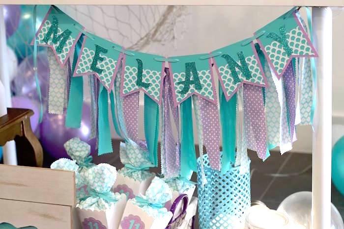 Mermaid Tassel Banner from a Mystical Mermaid Party on Kara's Party Ideas | KarasPartyIdeas.com (17)