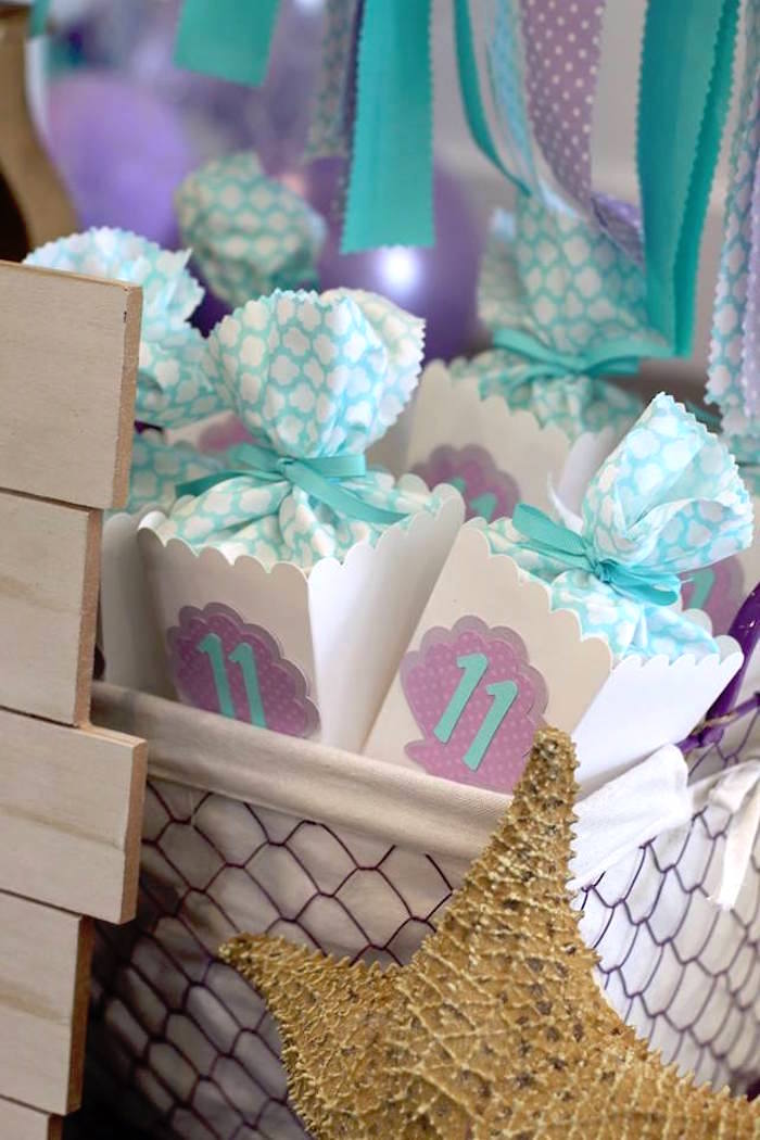 Seashell Favor Boxes from a Mystical Mermaid Party on Kara's Party Ideas | KarasPartyIdeas.com (15)