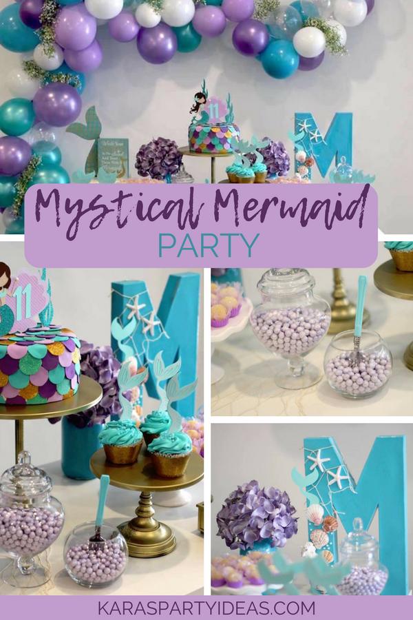 Mystical Mermaid Party via KarasPartyIdeas - KarasPartyIdeas.com