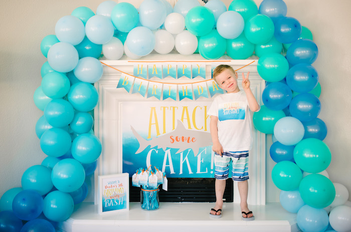 Ombre Watercolor Shark Birthday Party on Kara's Party Ideas | KarasPartyIdeas.com (3)