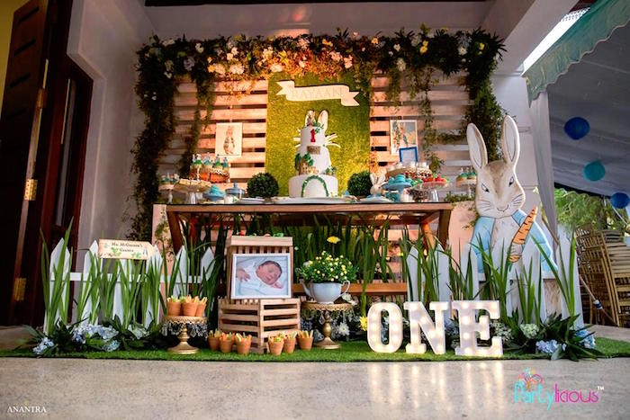 Peter Rabbit Birthday Party on Kara's Party Ideas | KarasPartyIdeas.com (4)