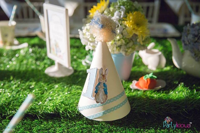 Peter Rabbit Party Hat from a Peter Rabbit Birthday Party on Kara's Party Ideas | KarasPartyIdeas.com (27)