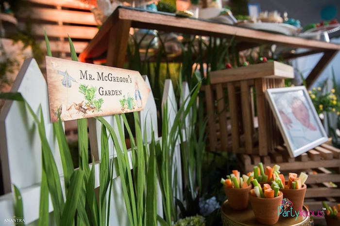 Mr. McGregor's Garden Fence from a Peter Rabbit Birthday Party on Kara's Party Ideas | KarasPartyIdeas.com (26)