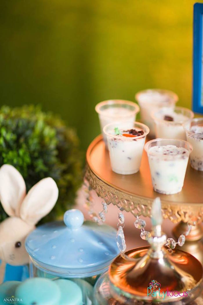 Dessert Cups from a Peter Rabbit Birthday Party on Kara's Party Ideas | KarasPartyIdeas.com (25)