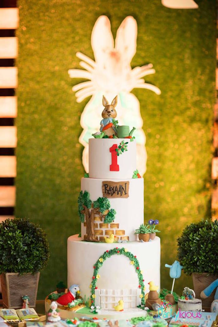 Peter Rabbit Birthday Cake from a Peter Rabbit Birthday Party on Kara's Party Ideas | KarasPartyIdeas.com (24)