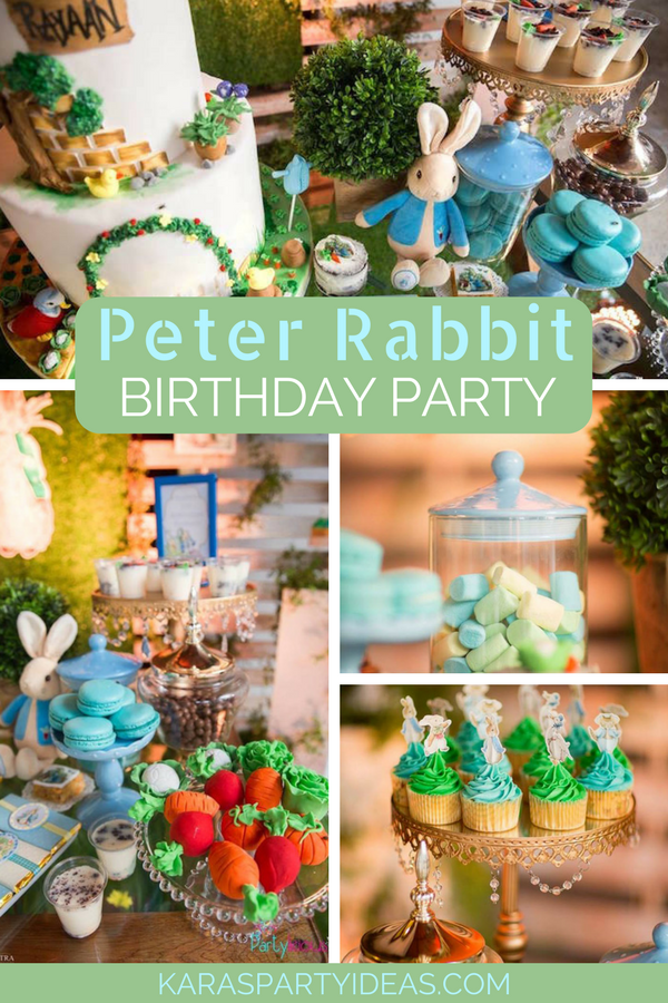 Peter Rabbit Birthday Party via KarasPartyIdeas - KarasPartyIdeas.com