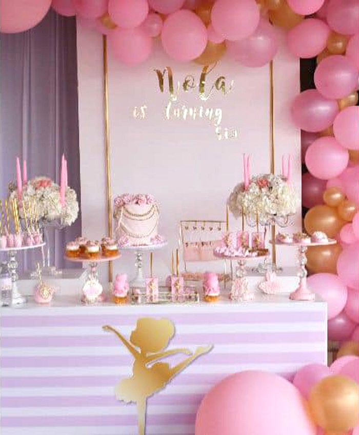 Ballerina Dessert Table from a Pink Ballerina Birthday Party on Kara's Party Ideas | KarasPartyIdeas.com (6)