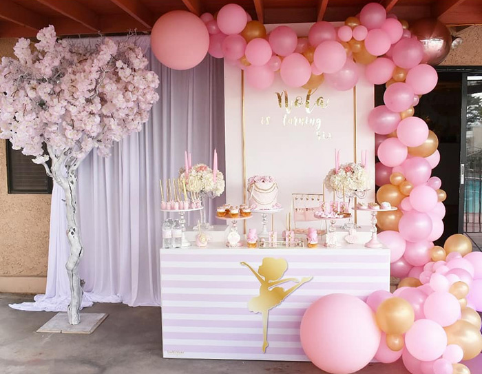 Pink Ballerina Birthday Party on Kara's Party Ideas | KarasPartyIdeas.com (11)