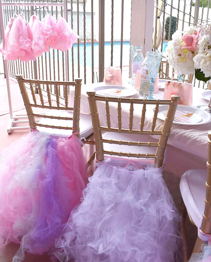 Tutu Guest Chairs from a Pink Ballerina Birthday Party on Kara's Party Ideas | KarasPartyIdeas.com (9)