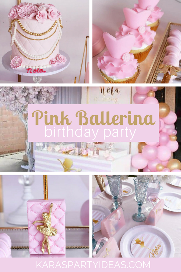 Pink Ballerina Birthday Party via KarasPartyIdeas - KarasPartyIdeas.com