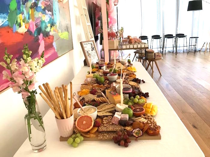 Charcuterie Platter from a Pink & Rose Gold Birthday Party on Kara's Party Ideas | KarasPartyIdeas.com (14)