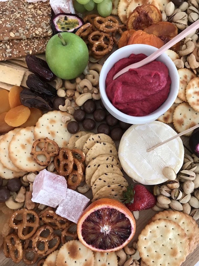Charcuterie Platter from a Pink & Rose Gold Birthday Party on Kara's Party Ideas | KarasPartyIdeas.com (12)