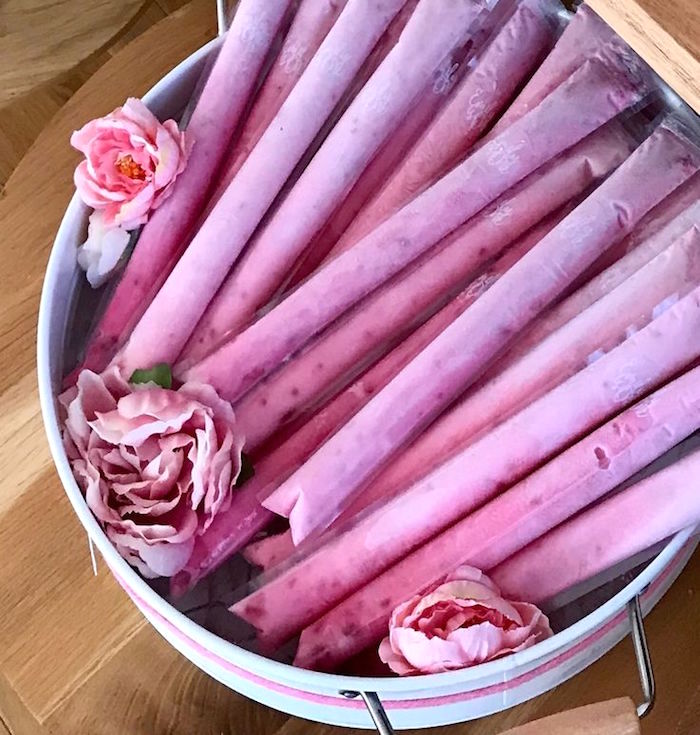 Yogurt Tubes from a Pink & Rose Gold Birthday Party on Kara's Party Ideas | KarasPartyIdeas.com (11)