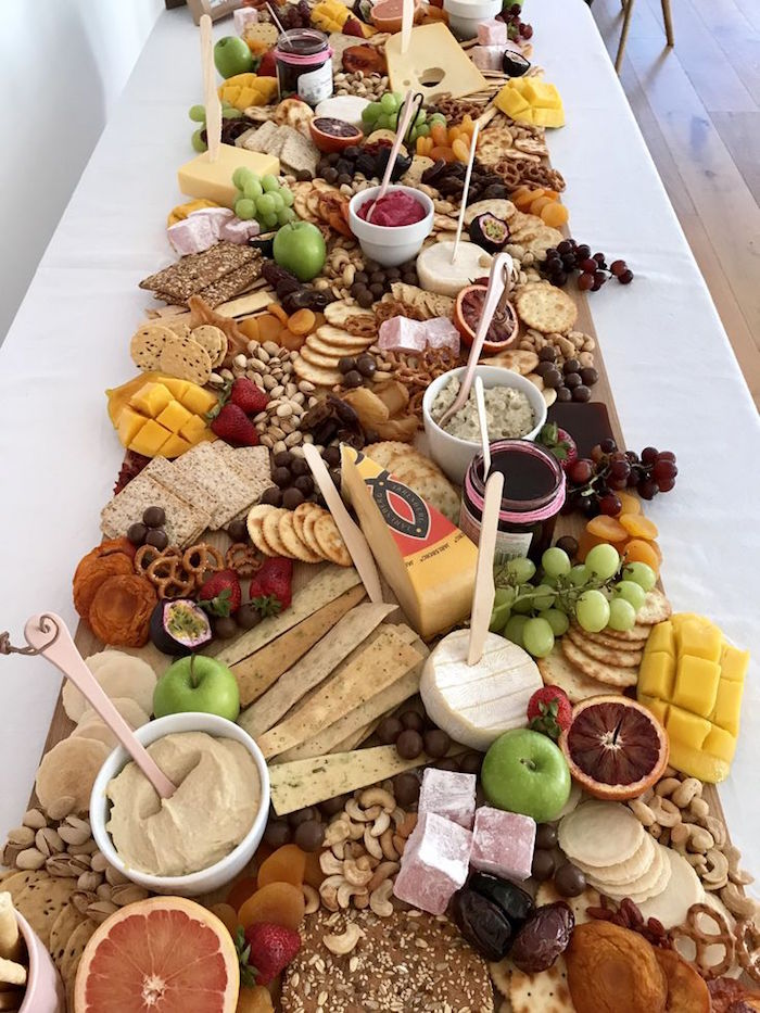 Charcuterie Platter from a Pink & Rose Gold Birthday Party on Kara's Party Ideas | KarasPartyIdeas.com (8)