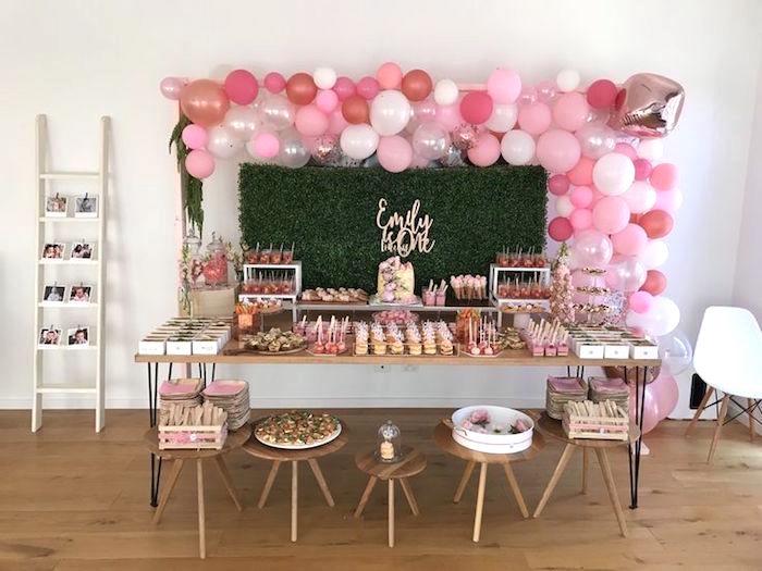 Pink Rose Gold Birthday Party On Karas Ideas