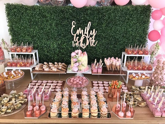 Party Tablescape from a Pink & Rose Gold Birthday Party on Kara's Party Ideas | KarasPartyIdeas.com (5)