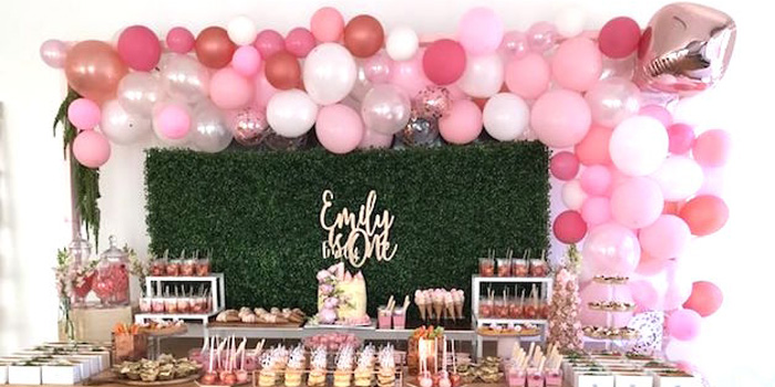 Karas Party Ideas Pink Rose Gold Birthday