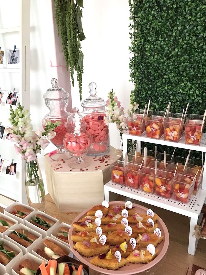Dessert Table Detail From A Pink Rose Gold Birthday Party On Karas Ideas