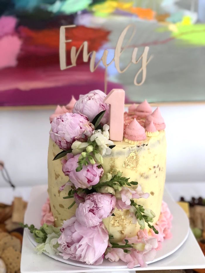 Floral Glitz Cake from a Pink & Rose Gold Birthday Party on Kara's Party Ideas | KarasPartyIdeas.com (21)