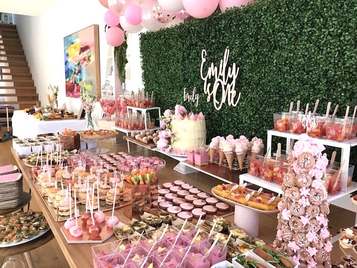 Pink & Rose Gold Birthday Party on Kara's Party Ideas | KarasPartyIdeas.com (20)