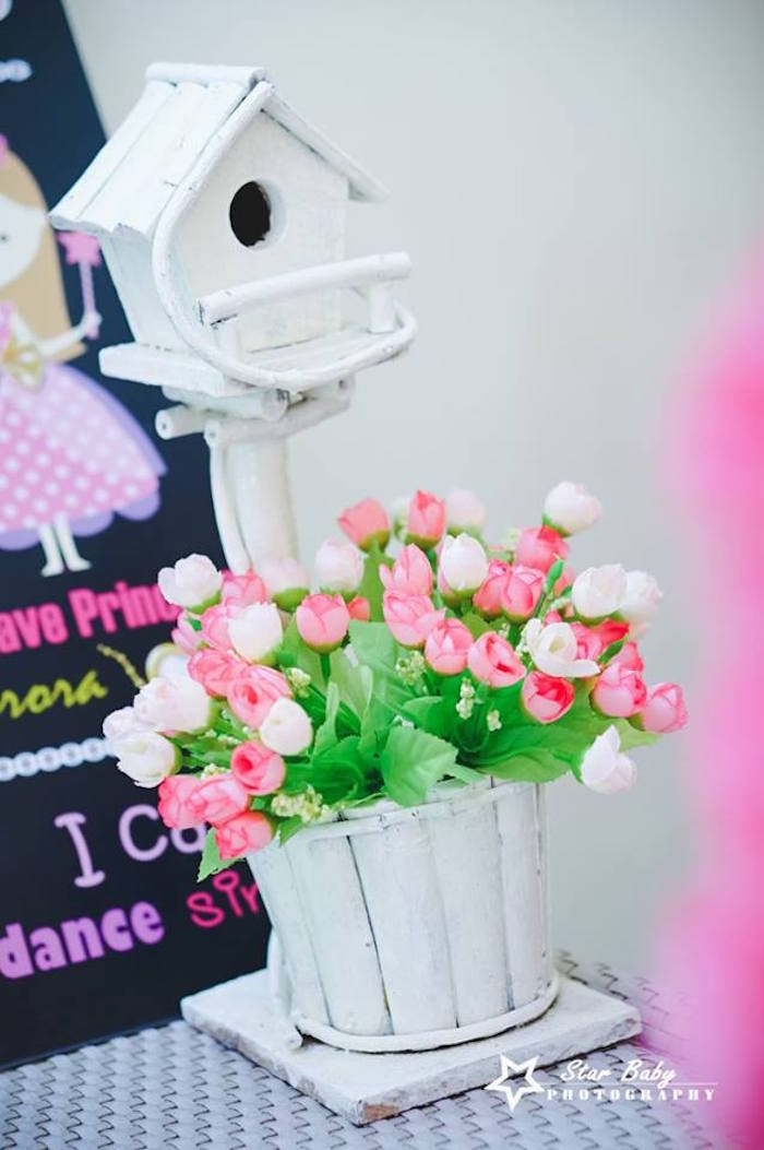 Birdhouse & Blooms from a Pink and Gold Princess Party on Kara's Party Ideas | KarasPartyIdeas.com (19)