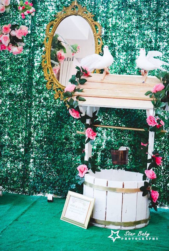 Wishing Well form a Pink and Gold Princess Party on Kara's Party Ideas | KarasPartyIdeas.com (16)