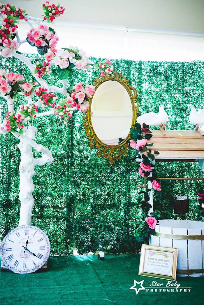 Royal Castle's Garden from a Pink and Gold Princess Party on Kara's Party Ideas | KarasPartyIdeas.com (28)