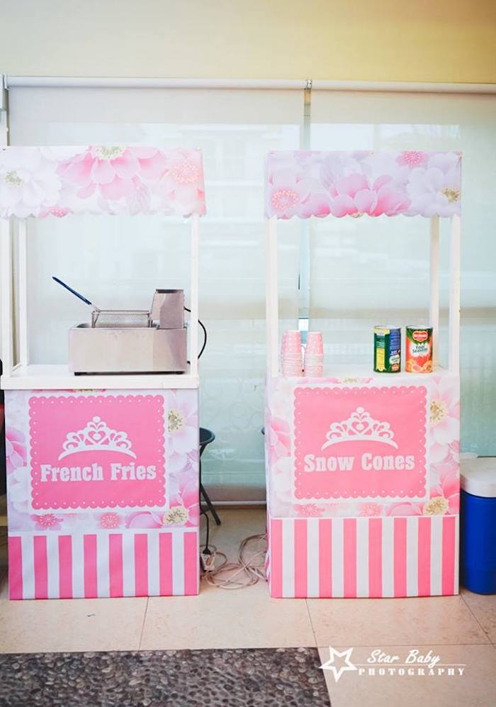 Snack/Sweet Stands from a Pink and Gold Princess Party on Kara's Party Ideas | KarasPartyIdeas.com (24)