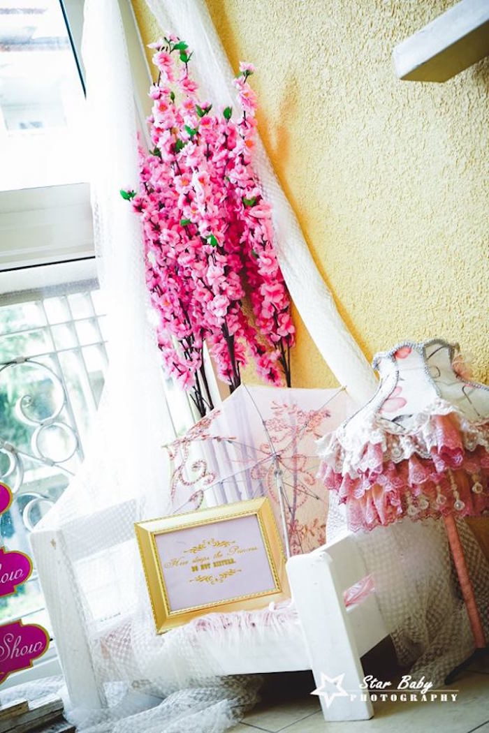 Princess Lounge from a Pink and Gold Princess Party on Kara's Party Ideas   KarasPartyIdeas.com (23)