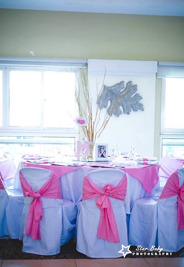 Royal Guest Table from a Pink and Gold Princess Party on Kara's Party Ideas | KarasPartyIdeas.com (21)