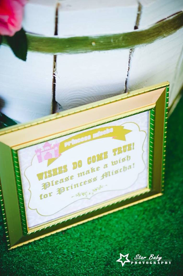 Signage from a Pink Pink and Gold Princess Party on Kara's Party Ideas | KarasPartyIdeas.com (20)