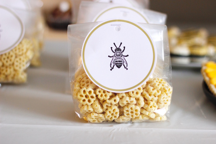 Honey Comb Cereal Favors from a Queen Bee Birthday Party on Kara's Party Ideas | KarasPartyIdeas.com (18)
