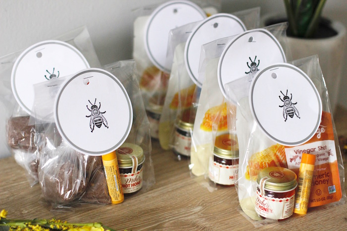Bee Themed Favors from a Queen Bee Birthday Party on Kara's Party Ideas | KarasPartyIdeas.com (16)