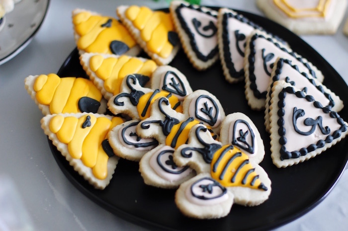 Bee Themed Cookies from a Queen Bee Birthday Party on Kara's Party Ideas | KarasPartyIdeas.com (15)