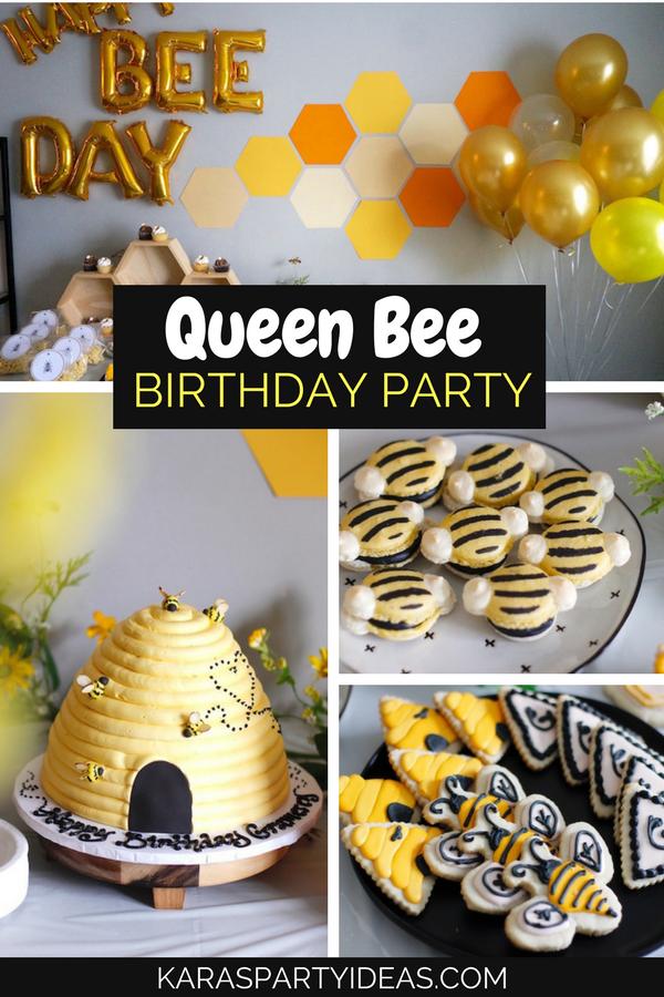 Queen Bee Birthday Party via KarasPartyIdeas - KarasPartyIdeas.com